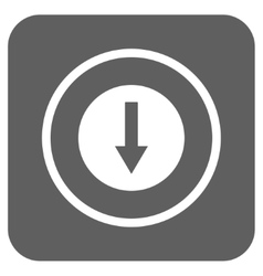 Down Rounded Arrow Flat Squared Icon vector