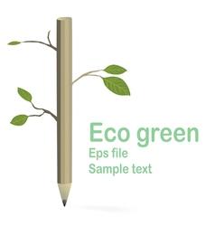 eco green vector image