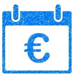 Euro Calendar Day Grainy Texture Icon vector image