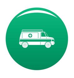 fast ambulance icon green vector image