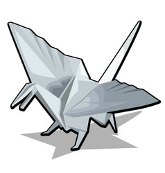 figure of a dragon in origami style isolated on vector image