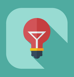 Flat modern design with shadow icons lightbulb vector