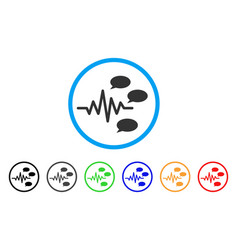 Gossip generation signal rounded icon vector