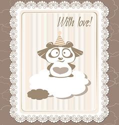 greeting panda vector image vector image