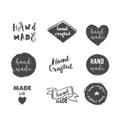 Handmade crafts workshop made with love icons vector image