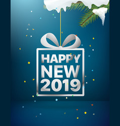 happy holidays new 2019 year greeting card vector image