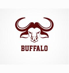 Head of bull buffalo logo and symbol vector
