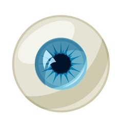 Human eye ball icon cartoon style vector image
