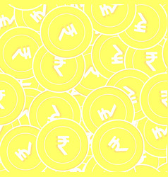 Indian rupee gold coins seamless pattern divine s vector