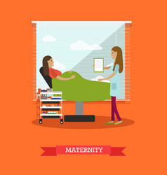 maternity concept in flat vector image
