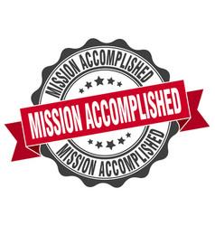 Mission accomplished stamp sign seal vector