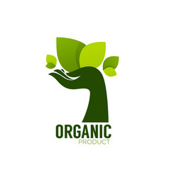 nature product logo ecological symbol and sign vector image