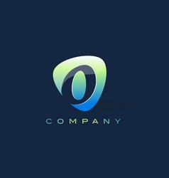 O letter logo oval shape modern design vector