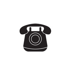 old phone solid icon vintagecall social media vector image