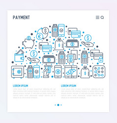 payment concept in half circle vector image