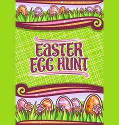 poster for easter egg hunt vector image