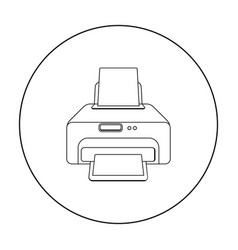 Printer icon in outline style isolated on white vector