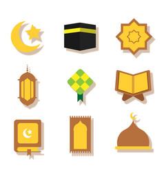 Ramadhan flat icon vector