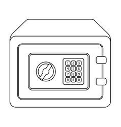 realistic steel safesafe under combination lock vector image