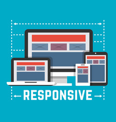 responsive web design concept in flat style vector image