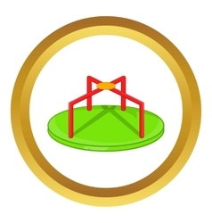 Round teeter icon vector