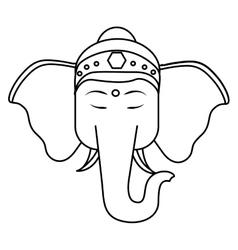 Sacred elephant india vector