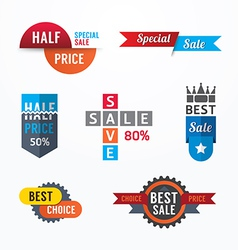 Sale tags banners set Design concept vector image