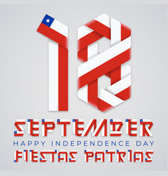 september 18 chile independence day vector image