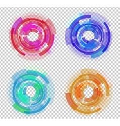 Set abstract colored circles vector