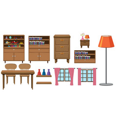 set of home furniture collection vector image