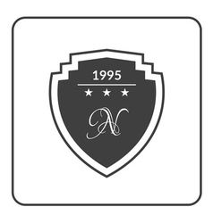 shield emblem black vector image