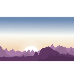 Silhouette of hill beauty landscape vector image