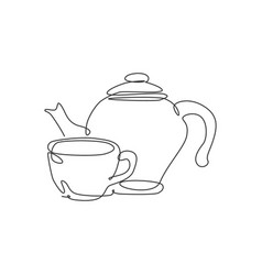 single continuous line drawing stylized clay vector image