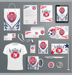 Soccer football club ector promo materials vector