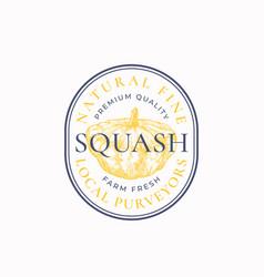squash frame badge or logo template hand drawn vector image