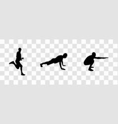 Sticker for car athletes silhouette of runner vector