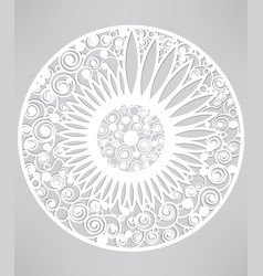 Template of abstract floral background ornamental vector