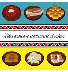 Ukrainian national cuisine vector image