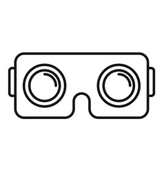 vr helmet icon outline style vector image