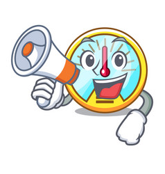 with megaphone speedometer in the a cartoon shape vector image