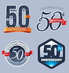 50 Years Anniversary Logo vector image vector image