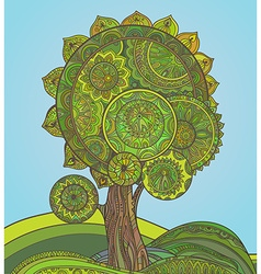 Abstract ornamental magic tree with a lot of vector image