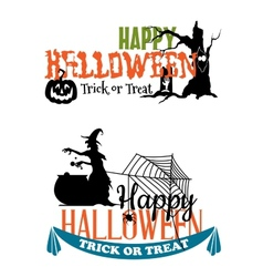 Eerie Halloween themed banners vector image vector image