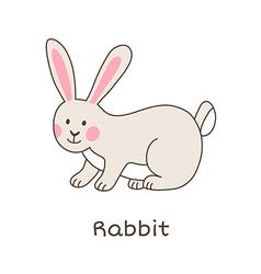 Lineart rabbit vector image