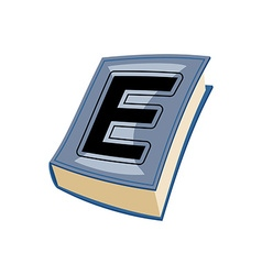 Lletter E at Vintage books in hardcover vector image vector image