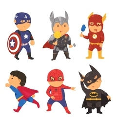 Cartoon superhero costume kids vector image vector image