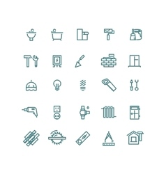 Home repair outline icons vector image vector image
