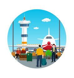 icon waiting roomtravel and tourism concept vector image vector image