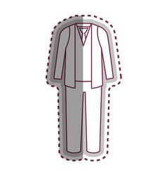 man dress casual icon vector image