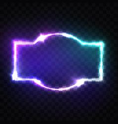 night club neon sign blank retro light signboard vector image vector image